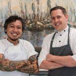 Maxie Millian the New Head Chef of Apéritif and Nic Vanderbeeken.