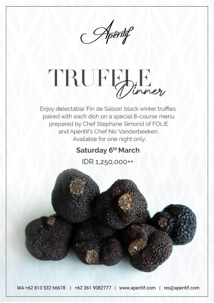 Truffle Dinner Apertif Ubud